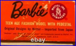 Vintage NIB 1964 Redhead Swirl Ponytail Barbie Doll Mattel Stock no. 850 Japan