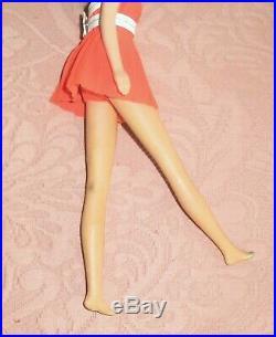 Vintage No Bangs Francie Barbie Doll 1966 Made In Japan Brunette