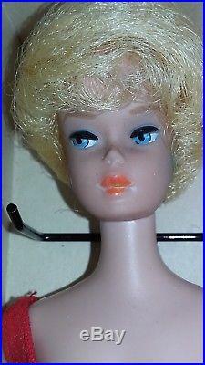 Vintage Original 1962 1960s Barbie Doll Platinum Bubblecut In Nr Mint Box Japan