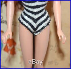 Vintage Original Blonde Ponytail Barbie Doll In Clothes 1960s Mattel Japan Box