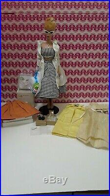 Vintage PONYTAIL Barbie BLONDE Japan A Rare #3 Doll+Stand+Clothes+OT Shoes