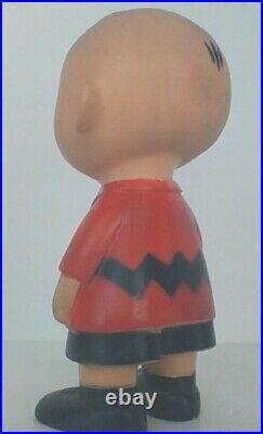 Vintage Peanuts Snoopy Charlie Brown 1958 Hungerford Vinyl Doll Nice