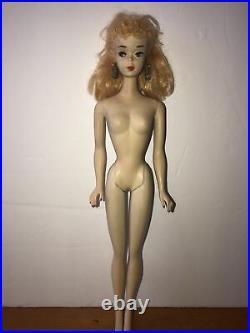 Vintage Ponytail Barbie Doll #3 Blonde Hair Brown EyelinerCreamy White Skin Exc