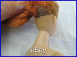 Vintage Rare Mattel Barbie Doll 1958 Japan Red Hair