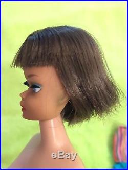 Vintage Silver Brunette American Girl Barbie Long Hair Japan