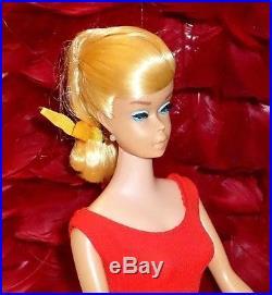 Vintage Swirl Ponytail Barbie Doll Lemon BlondeNude'64-'65Shiny HairJapan