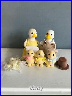 Vintage Sylvanian Families Complete Puddleford Ducks Family 1988 Calico Critters