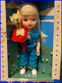 Vintage Tiny Terry Doll with Cat by My-Toy 1966 6 Never Played With
