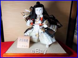 Vintage Very beautiful KIMONO Japanese doll BENKEI from JAPAN #1031