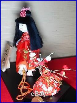 Vintage Very cute Japanese doll beautiful kimono from JAPAN #1025