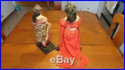 Vintage / antique Gesha dolls Japan