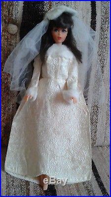 Vintage japan tnt brunette barbie doll pretty