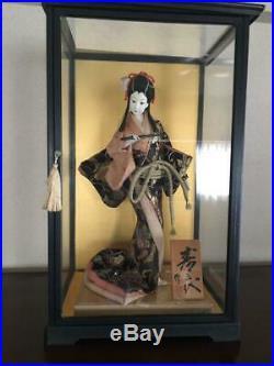 Vintage japanese doll kimono Geisha beautiful Figure Kyoto Japan 42.0cm 16.5