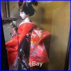 Vintage japanese doll kimono Geisha beautiful Figure Kyoto Japan antique