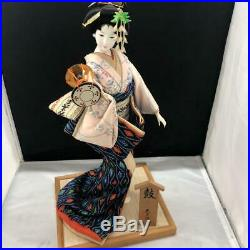Vintage japanese doll kimono Geisha beautiful Figure Kyoto antique 45.0cm 17.7