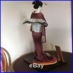 Vintage japanese doll kimono Geisha beautiful Japanese Kyoto Figure 52.0cm 20.4