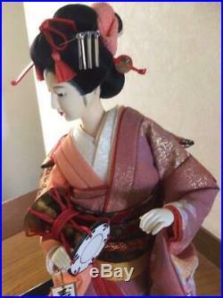 Vintage japanese doll kimono Geisha beautiful hair Japanese Maiko Figure 18.5in