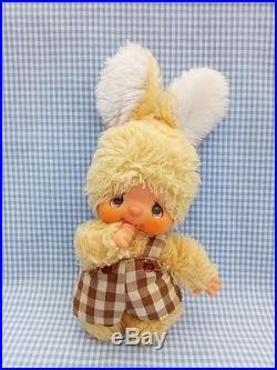 Vintage monchhichi sekiguchi yellow bunny japan doll