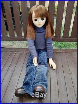 Vintage sekiguchi big eye japan doll 25in
