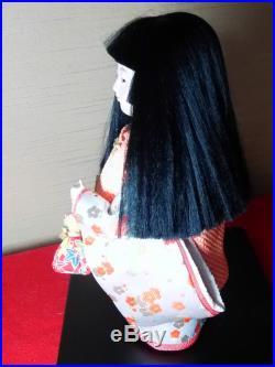 Vintage very cute Japanese girl doll beautiful kimono from JAPAN #1030