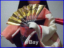 Vtg. 2 beautiful Japanese KImono girls/ichimatsu ningyo/Geisha doll/bijin/taiko