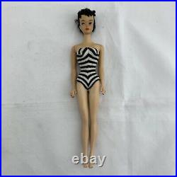 Vtg #3 Barbie Doll Brunette Ponytail With Haircut Accessories Japan VIDEO