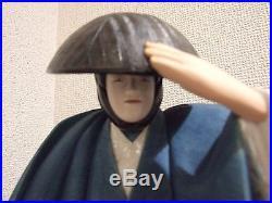 Vtg. Japanese Hakata doll by SHIROUZU TADAOKI/NOH ningyo SASAMOCHI/Sumidagawa
