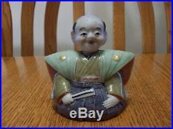 Vtg Lot Japanese Banko Asian Man & Geisha Girl Figure Bisque Bobblehead Nodder