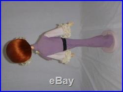 Vtg Mid Century 60s MOD HUGE 22 Stockinette Big Eye Doll Red Hair Japan